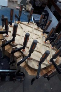 Top glued & clamped to body