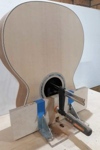 Routing neck joint mortice