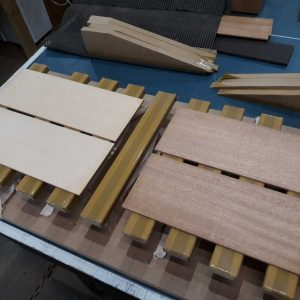 Top & back plates prepped for jointing