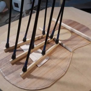 Top bracing glued & clamped