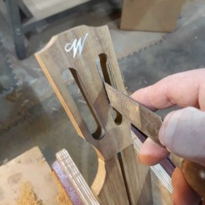 Headstock slots cut and shaped