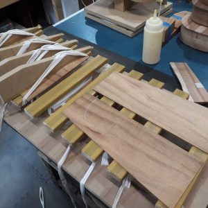 4. Plates glued in jointing jig