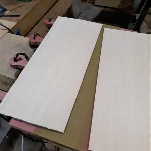 4. Sitak Spruce top plates ready for jointing