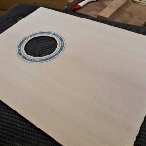 22. Rosette & sound hole completed