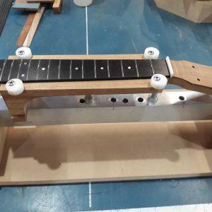 20. Neck in fretboard gluing jig