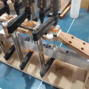 21. Fretboard glued to neck