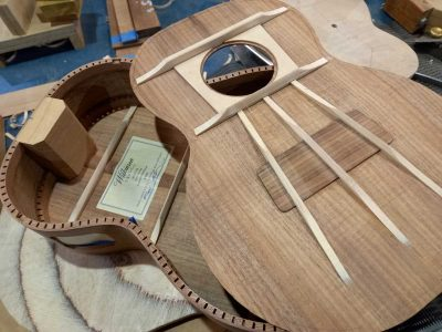 7. Top ready for gluing to back & sides
